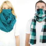 Estilosa bufanda antimicrobiana que protege del resfriado y las alergias